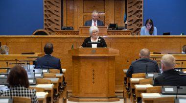 """Marina Kaljurand, Olulise tähtsusega riikliku küsimuse """"Elu pärast kriisi – terve ühiskonnana edasi"""" arutelu"""