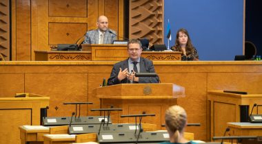The Riigikogu received an overview of the work of courts. Photo: Erik Peinar