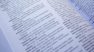 Õigekeelsussõnaraamat. Foto: Liisa Johanna Lukk