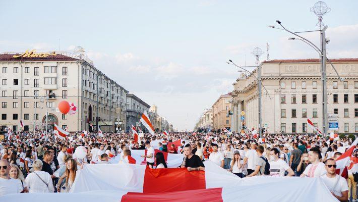 Demonstartsioon Minskis. Artem Podrez pexels.com