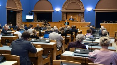 The Riigikogu was given an overview of the work of the Chancellor of Justice. Photo: Erik Peinar