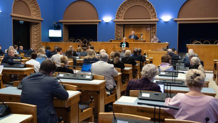 Riigikogu sai ülevaate õiguskantsleri tööst. Foto: Erik Peinar