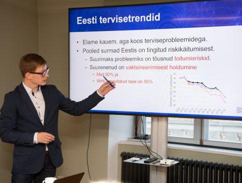 """Raporti """"Eesti tervishoid tulevikus – võtmetrendid ja näiteriigid"""" esitlus"""