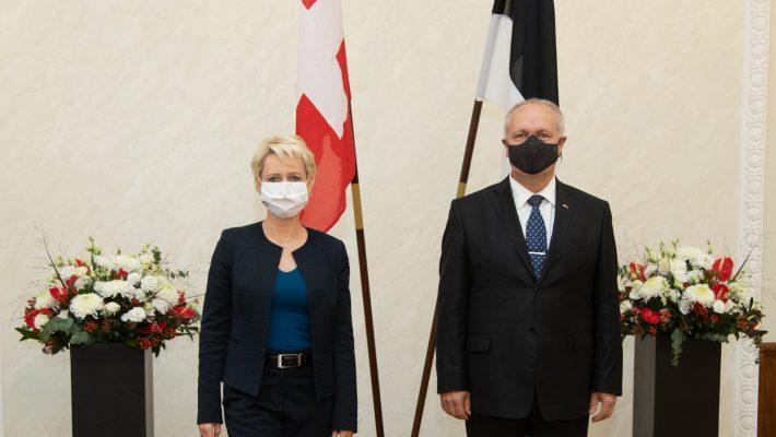 Riigikogu esimees Henn Põlluaas kohtus Šveitsi rahvusnõukogu esimehe Isabelle Moret'ga