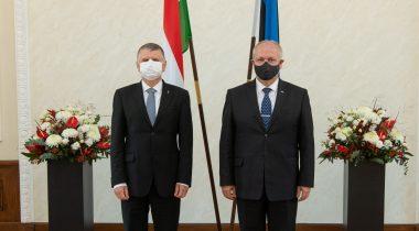Riigikogu esimees Henn Põlluaas kohtumisel Ungari parlamendi esimehe László Kövériga