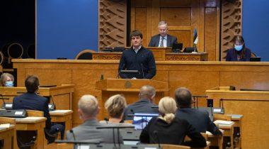 Рийгикогу обсудил в качестве вопроса государственной важности крушение парома «Эстония». Foto: Erik Peinar