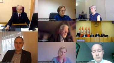 Eesti, Läti ja Leedu väliskomisjonide videoistung