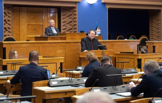 """Eesti Keskerakonna fraktsiooni algatatud olulise tähtsusega riikliku küsimuse """"Rohepööre – nii väljakutse kui võimalus Eesti jaoks"""" arutelu"""
