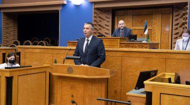 Riigikogu liikme Marko Tormi ametivanne. Foto: Erik Peinar, Riigikogu Kantselei