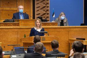 Kaja Kallas Riigikogu infotunnis