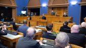 Uus valitsus andis Riigikogu ees ametivande. Foto: Erik Peinar, Riigikogu Kantselei