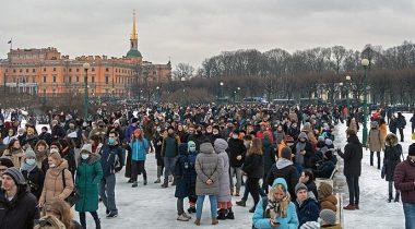 Protest Aleksei Navalnõi toetuseks. Foto: Bestalex