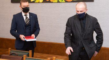 Riigikaitsekomisjoni liikmed Raivo Tamm ja Leo Kunnas