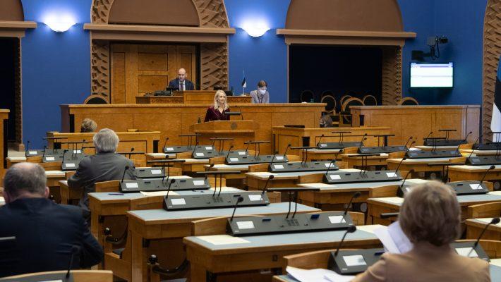 Riigikogu kaugosalusega istung. Foto: Erik Peinar