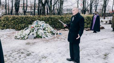 Leo Kunnas Johannes Kerdi matustel Foto: Kaitsevägi