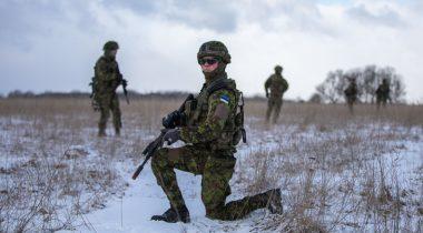 Kaitsevägi. Scoutspataljoni jalaväerühma BKN09 Estpla lõpuharjutus Sleipnir-9 15-19.03.2021Foto: Kaitseväe Peastaap