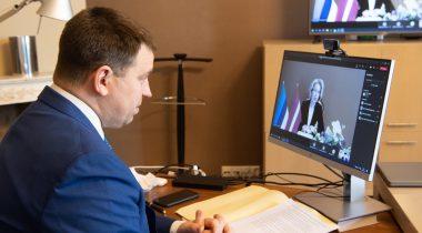 Riigikogu esimehe Jüri Ratase tutvumiskõne Läti parlamendi esimehe Ināra Mūrniecega