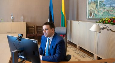 Riigikogu esimehe Jüri Ratse videokohtumine Leedu kolleegiga