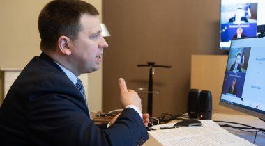 Riigikogu esimees Jüri Ratas kohtus täna videosilla vahendusel Euroopa Parlamendi presidendi David Sassoliga