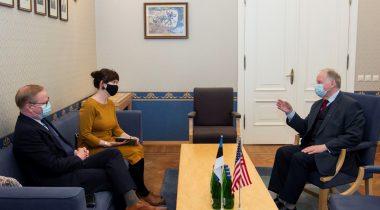 Riigikaitsekomisjoni esimehe Enn Eesmaa kohtumine Ameerika Ühendriikide suursaatkonna ajutise asjuri Brian Roraffiga