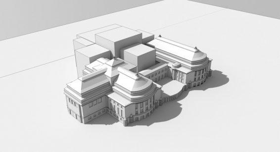 Estonia teatrihoone juurdeehituse mahuline eskiis