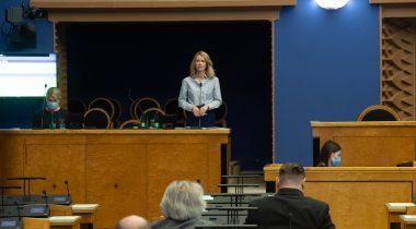 На инфочасе Рийгикогу обсудили бюджетную стратегию. Foto: Erik Peinar