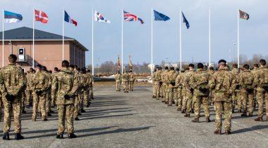 eFP Ühendkuningriigi üksuste vahetustseremoonia 25.03.2021 Foto: Kaitsevägi