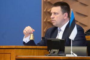 Jüri Ratas Riigikogu istungit juhatamas