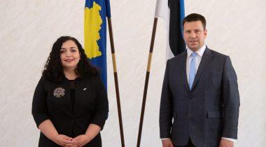 President of the Riigikogu assured President of Kosovo of Estonia's support in aspirations towards the EU