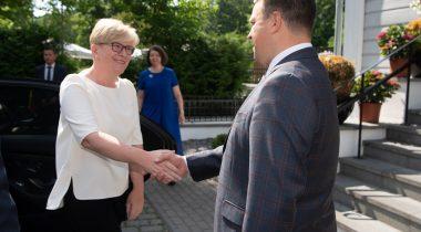 Riigikogu esimees Jüri Ratas arutas kohtumisel Leedu peaministri Ingrida Šimonytega kahepoolsete suhete tihendamist