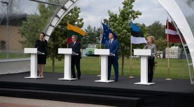 Riigikogu esimees Jüri Ratas, Läti parlamendi esimees Ināra Mūrniece, Leedu parlamendi esimees Viktorija Čmilytė-Nielsen ning Euroopa Parlamendi president David Maria Sassoli andisid ühise pressikonverentsi Leedu piirivalvekooli juures