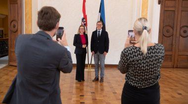 Руководитель комиссии по экономике обсудил с министром Австрии темы, затрагивающие цифровое общество. Foto: Erik Peinar
