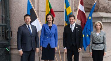 Riigikogu esimees on koos Läti ja Leedu ametikaaslastega visiidil Rootsis