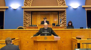 Eesti keele õppe arengu probleemkomisjoni esimees Mihhail Stalnuhhin. Foto: Merje Meisalu