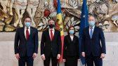 Balti parlamentide väliskomisjonide esimeeste kohtumine Moldova presidendi Maia Sanduga.