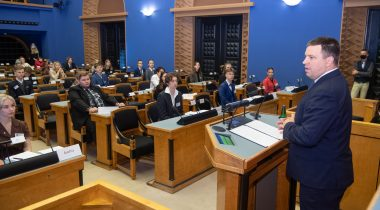 President of the Riigikogu welcomed the young people of the Estonian Model European Parliament